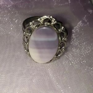 Vintage Native American Wampum Ring w/ Floral Band